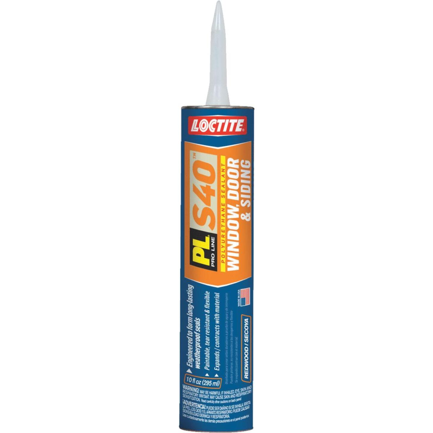 LOCTITE PL S40 10 Oz. Polyurethane Window, Door, & Siding Sealant, Redwood Image 1